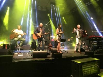 Live-Bilder vom Auftritt am 1.7.2017 in Ottensheim. Hoamspü live.