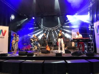 Tolle Live-Fotos vom Hoamspü Auftritt im Welldorado Wels.