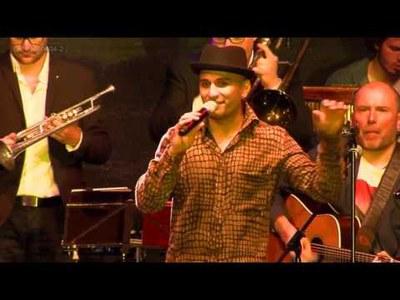 Der Nackte Wahnsinn LIVE von Hoamspü & Eric Papilaya beim Benefizkonzert am 4.2.2016 im Welser Stadtpark.